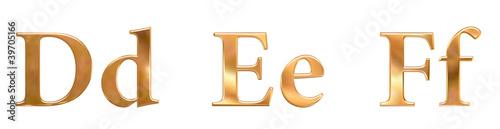 Goldene Buchstaben