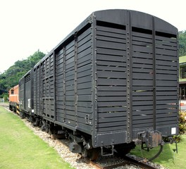 Old Black Freight Cars