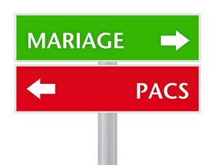 panneau mariage ou pacs