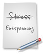 "Papier & Bleistift Illustration ""Stress vs. Entspannung"""