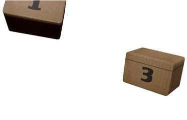 scatole di cartone a sorpresa, animazione