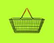 shopping basket on green