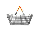 shopping basket on white