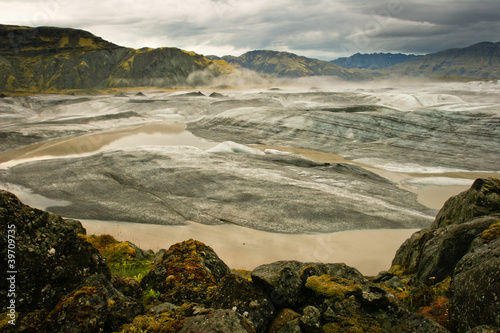 Panoramic of Vatnajokull glacier, Iceland