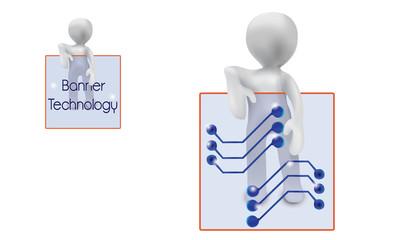 Tech Banner-3d people