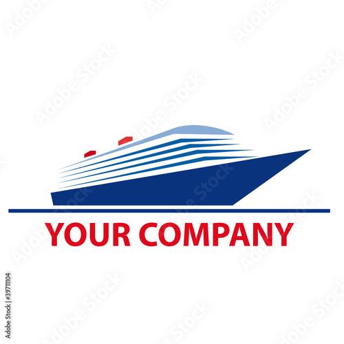 Logo Cruise Ship Vector By Puckillustrations Royalty