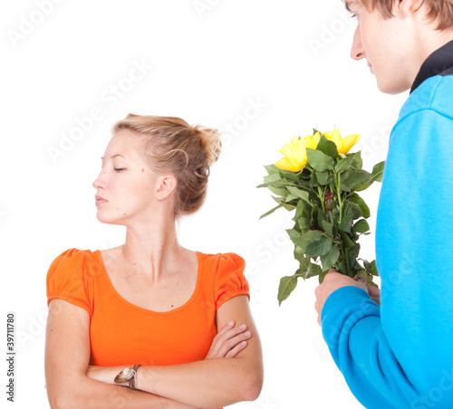 girlfriend who is very upset after argument
