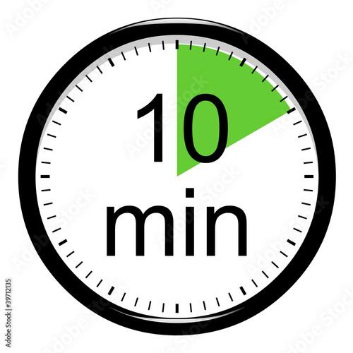 10 minute clock