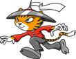 Tiger Ninja Warrior Vector Illustration