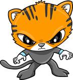 Tiger Warrior Vector Illustration