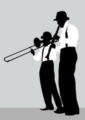 Trombone and clarinet