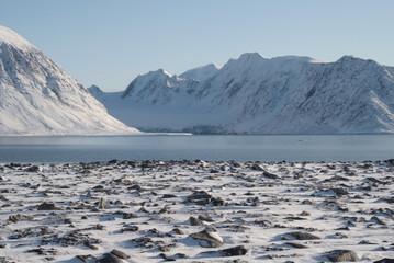 Winterliche Stimmung im Fjord