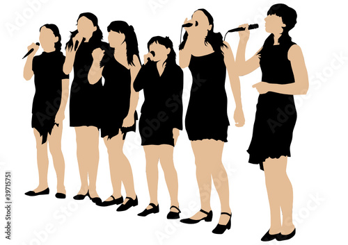 Young women singers