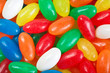 Multi colored jelly beans background. Close up