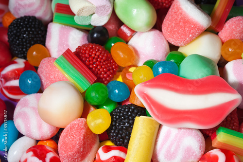 Fototapeta Candy assortment background