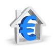 Haus mit Eurozeichen