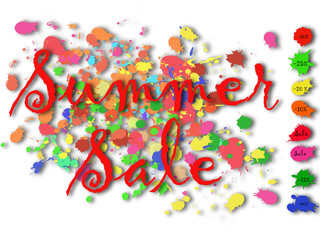 Summer Sale Bloch Colourful Stickers