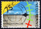 Postage stamp Netherlands 1989 Assessing Work Conditions poster