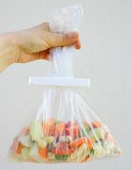 sac de congélation et légumes