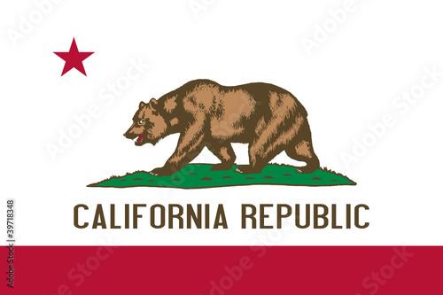 Fototapeta Flag of California