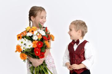 Kinder beim Fest