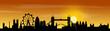 London Skyline mit Sonnenuntergang