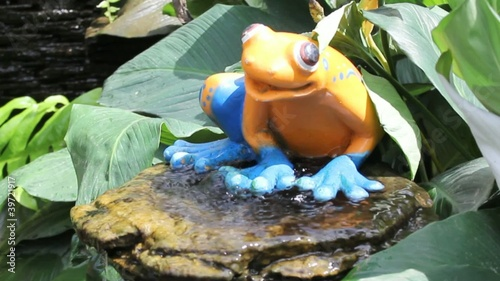 frog fountain in park