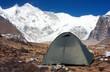 camping under cho oyu - cho oyu base camp - nepal