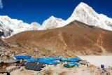 Gorak Shep village and Kala Patthar view point on Everest