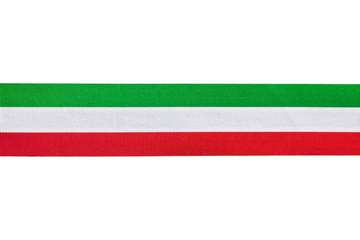 Nastro in tessuto orizzontale tricolore Italia
