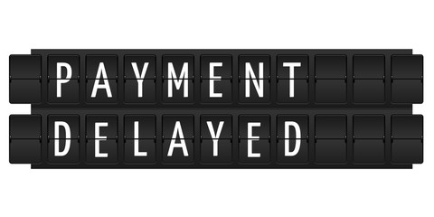 Payment delayed text
