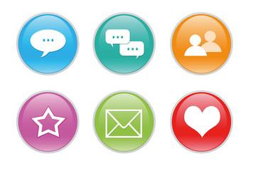 Iconos para la Web con diferentes símbolos