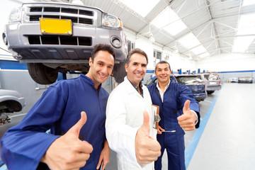 Mechanics with thumbs up