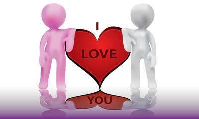 People in love-3D