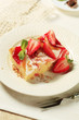 Cheese and strawberry sponge cake