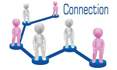 Social networking-3D