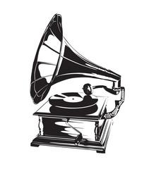 Vintage Gramophone Stencil