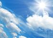 Fototapeten,sonne,wolken,blau,leuchten