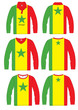 Shirt Long-sleeved sport in Senegal Flag.