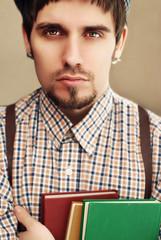 Englishman and book