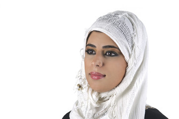beautiful arabian lady wearing hijab