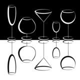 Fototapete Champagner - Martini - Glas