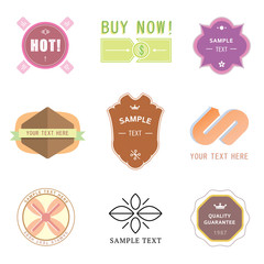 Set of vintage retro badges and labels