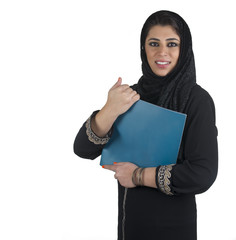 islamic executive in a business presentation scene