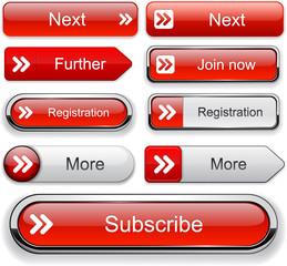 Forward high-detailed web button collection.