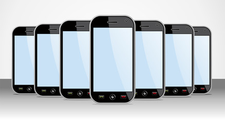 Set of generic Smartphones device useful for app templates