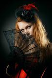 Charming redhead lady poster
