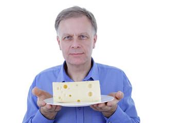 Mann mit Käse