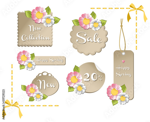Happy spring sale tag collection