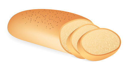 A loaf of bread. Vector illustration on white background